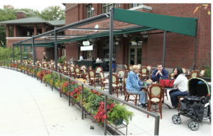 The Animalista Chicago pet friendly restaurants - Patio at Café Brauer